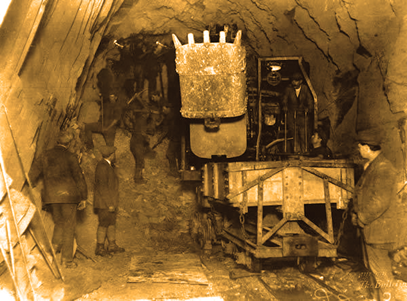 11 Excavating tunnel Bulletin photo 1955